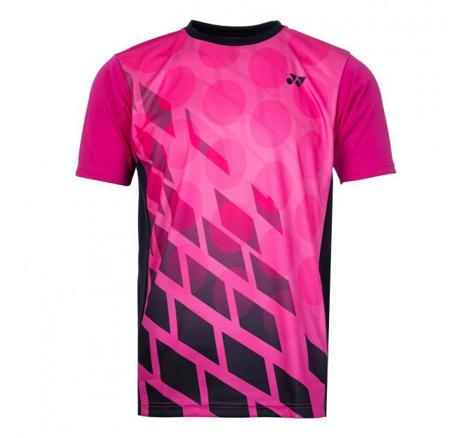 Спортивная футболка Yonex 16369EX Black/Pink ✅