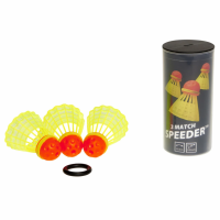 Набор воланов Speedminton Tube Mach 3 шт yellow - 400223