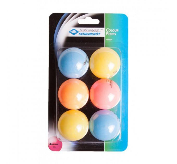 Мячи Donic Colour popps 6шт - Colour popps ✅