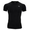 Футболка VICTOR Compression Shirt Uni black 5708