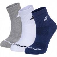 Носки спортивные Babolat QUARTER 3 PAIRS PACK (Упаковка,3 пары) 5UA1401/1033 ✔