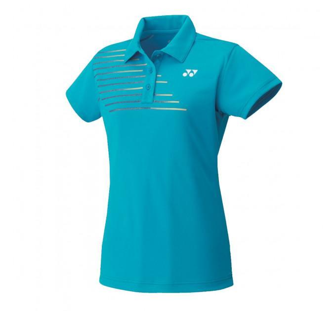 Женская футболка Yonex 20302 Women`s Polo Shirt Water Blue ✅