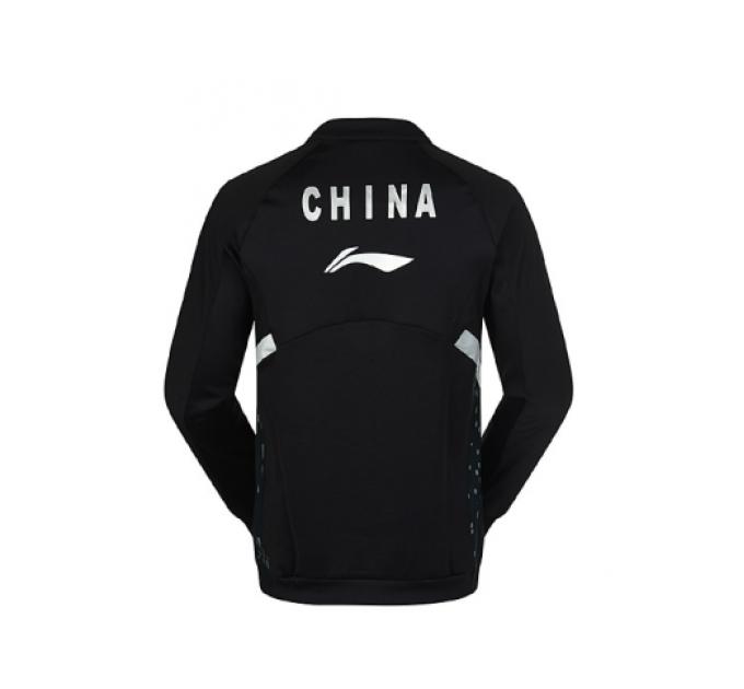 Олимпийка мужская для бадминтона China Li-Ning AWDK133-2 черная ✔