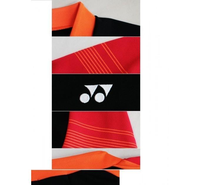 Футболка Yonex 10128 Black/Red ✅