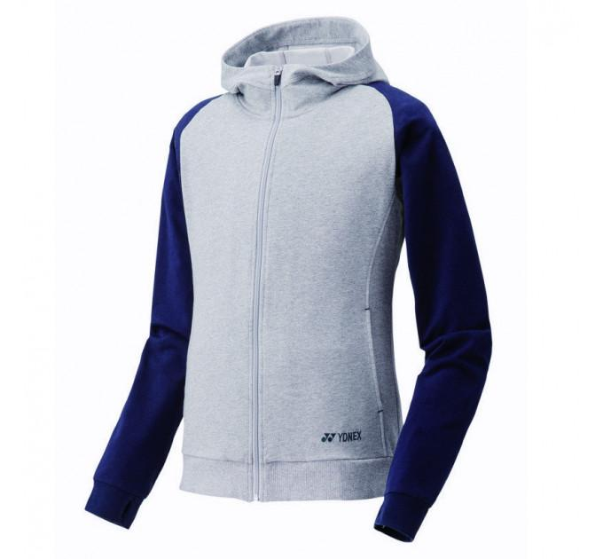 Кофта женская Yonex 39002 Women`s Full Zip Hoodie Grey ✅