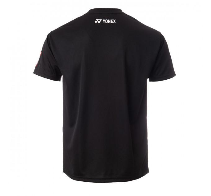 Футболка Yonex 18070EX T-Shirt Men`s Black ✅
