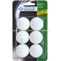 Мячи Donic Elite 1звезда 40+ (6шт.) plastic white