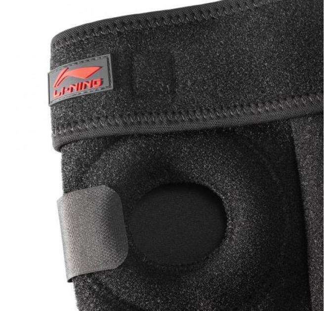 Бандаж на колено Li-Ning профессиональный ADEL086-1 черный Unisex ✔