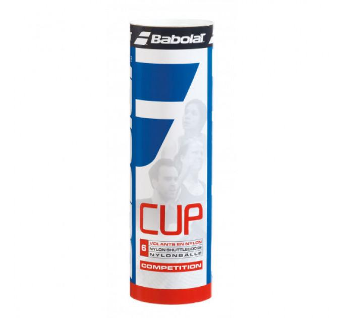 Воланы Babolat NYLON SHUTTLE CUP (Упаковка,6 штук)