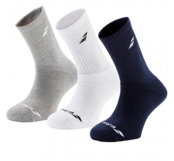 Носки спортивные Babolat 3 PAIRS PACK SOCKS (Упаковка,3 пары) 5US17371/249/M ✔